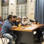La commissione d'esame (Piercarlo Rossi e Gualtiero Gasperini) esamina i candidati arbitri