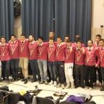 """Il gruppo dei nuovi arbitri col """"maestro"""" Piercarlo Rossi e gli aiutanti del corso"""
