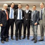 Gli ospiti al termine della chiacchierata con gli associati, insieme ai componenti CRA Giuliano Tartarotti e Gualtiero Gasperini